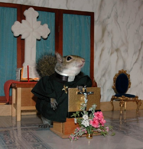 Rev. Sugar Bush Squirrel gives her sermon