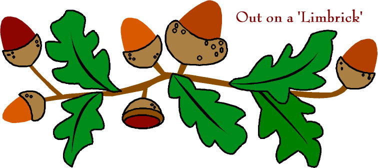 Out on a 'Limbrick' nuts and leaves on a branch